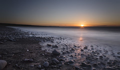 West Wales Sunset (shawn~white) Tags: ocean longexposure sunset sea sun reflection beach water wales landscape coast rocks solitude mood westwales place unitedkingdom cymru restful peaceful wideangle calm serene lowtide idyllic ceredigion tranquil lightsource llanrhystud harmonious neutraldensity shawnwhite canon6d