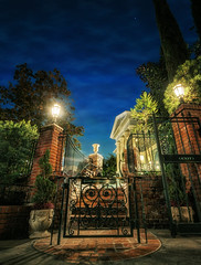 The End Is the Beginning (Matt Valeriote) Tags: night disneyland disney spooky hdr hauntedmansion neworleanssquare californiaadventure darkride