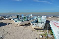Fishing Boats (Peter Schnurman) Tags: mexico boats fishing yucatan chicxulub