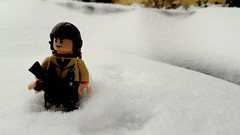 Snowfall (Dark_Plague) Tags: world winter snow real soldier outdoors nikon war lego military coolpix ww2 afol brickarms