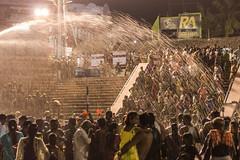 Divine Showers under Lights | Mahamaham,Kumbakonam 2016 (vjisin) Tags: travel people india nikon asia religion holy hinduism tamilnadu southindia nikond3200 travelphotography kumbakonam indianheritage mahamaham2016 southindiankumbamela2016