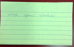 Wash (thompsoe) Tags: payitforward uniadvice advicefromstudents