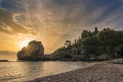 Scorcio di Isola Bella (Antonio Calvagno Photography) Tags: italy seascape colors beautiful beauty sunrise wonderful landscape fantastic nikon sicily isolabella nikkor taormina marvelous paesaggio isola waterscape beautyinnature d810 paesaggiomarino nikonflickraward flickrtravelaward