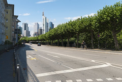 Frankfurt Street (Rich3012) Tags: road street trees skyline germany frankfurt towers cbd hesse