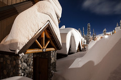 Snowed in and couldn't be happier:) (WestCoasting) Tags: snow canada britishcolumbia nightshoot kelowna bigwhite skitown