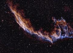 Fragment of Veil Nebula, HaOIII 11h30m (je_ni_pa) Tags: astrophotography cygnus deepsky veilnebula
