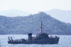 Chinhae South Korea - coastal minesweeper ROKS NAM YANG (MSC 555) (BlackShoe1) Tags: ship navy vessel flags float southkorea minesweeper hadong coastalminesweeper msc296 msc555