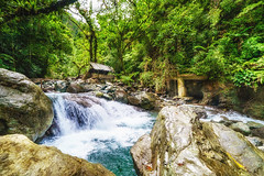 A hut (Hendraxu) Tags: travel green nature water rock stone creek forest river waterfall tour natural teal falls jungle destination naturelover traveldestination