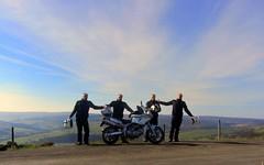 Me an ma boys! (Mike-Lee) Tags: birthday mike sunshine bike sheffield clones clone highbradfield 60yearsold cloningabout meanmyboys cagivanavigator1000 march2016 yearofbirthdaysilliness