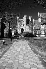 looking towards blair hall (BehindBlueEyes) Tags: bw newjersey nj princeton mercercounty princetonuniversity blairhall