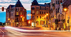 City Street View Sun Rising Time (pakdyziner) Tags: public creative free images common domain fifcu
