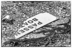 no boats today (Mark Rigler UK) Tags: sea england white black beach broken water up sign tin boat can line shore dorset rubbish washed sandbanks poole paaenger