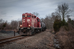 On Its Way Back To Landsdale 12-28-15 (Daniel J. Kirby) Tags: red pacific pennsylvania rail canadian pa hatfield cp northeastern danieljkirbyphotography