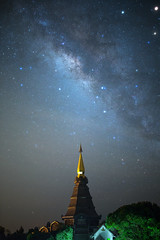 Great Pagoda (Fevzi DINTAS) Tags: travel sky tourism nature night stars thailand temple amazing asia space places visit galaxy planets moment universe pagodas nationalgeographic milkyway destinations astronoy paza140
