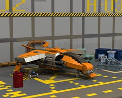 Interceptor hangar (funnyjelly_its_me) Tags: lego scifi spaceship