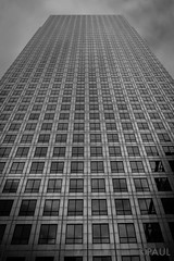 One Canada Square (PaulGibsonPhoto) Tags: bw london tower skyscraper mono high fuji bank fujifilm tall canarywharf finance canadasquare onecanadasquare x100s