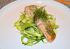 Dill Marinated Salmon, Spiralized Courgette, Spring Onion (Tony Worrall Foto) Tags: uk england food english make menu yummy nice yum dish photos tag cook tasty plate eaten things images x made eat foodporn add meal taste dishes cooked tasted grub iatethis foodie flavour springonion plated foodpictures ingrediants picturesoffood photograff foodophile 2016tonyworrall dillmarinatedsalmon spiralizedcourgette