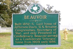 Beauvoir (Piedmont Fossil) Tags: home sign mississippi historic jefferson biloxi davis beauvoir