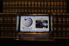gone the way of the Dodo (robsfrederick) Tags: books wikipedia dodo americana toshiba lightbox encyclopedia 52project2016