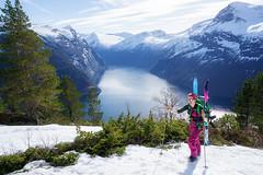 Spring is near (Johan Kistrand) Tags: trees snow mountains nature norway norge spring hiking fjord geiranger skitouring sunnmre splitboard geirangerfjorden