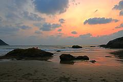 LONELY IN THE TWILIGHT ZONE (GOPAN G. NAIR [ GOPS Photography ]) Tags: sunset beach clouds photography evening twilight gokarna om karnataka heavenly aum gops gopan kudlu gopsorg gopangnair gopsphotography