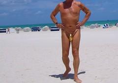 gold teardrop mb (bmicro2000) Tags: man male gstring teardrop manthong minimalswimwear microkini thongman microbeachwear
