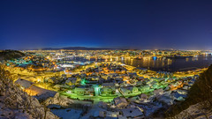 Sandnes City (Helge Andersen Foto) Tags: travel winter snow foto cityscapes hana fjord helge andersen natt sandnes rogaland maritim bilde hanapiren