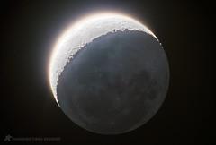 """Lua e o """"Brilho Da Vinci"""" (Delberson Tiago) Tags: moon canon telescope da lua atm vinci t3i earthshine telescopio newtonian newtoniano"""