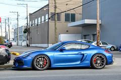 Porsche Cayman GT4 (SupercarLust) Tags: vancouver exotic supercar sportscar supercarlust porschecaymangt4 sapphiremetallicblue