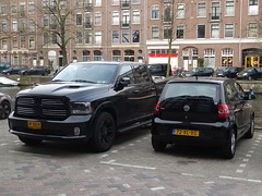 Amsterdam: Black Ram and Fox (harry_nl) Tags: netherlands amsterdam sport volkswagen nederland fox ram 1500 2016