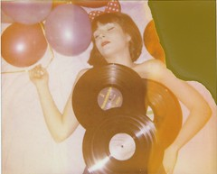 Analogue fun 4ever (marion (milky soldier)) Tags: party records film girl analog balloons polaroid instant analogue spectra expired vinyls polaroidweek musiclover roidweek roidweek2016 polaroidweek2016
