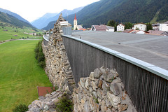 Galtr Alpinarium: protective wall for avalanches. (elsa11) Tags: alps austria tirol oostenrijk sterreich alpen tyrol avalanche lawine galtr alpinarium paznauntal protectivewall paznaunvalley galtralpinarium avalanche1999 lawinenkatastrophegaltr