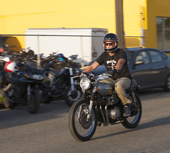 MarysClub (B Shree B) Tags: seattle sunset cafe motorcycle ballard racers backfire