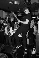 Seven Cities (SteveRotherPhotography) Tags: blackandwhite music monochrome rock drums singing drum guitar gig livemusic band devon sing lansdowne dawlish sevencities lansdownepub lansdownedawlish