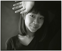 MOMO (Tamakorox) Tags: family light shadow portrait art love film girl japan japanese spring asia fuji kodak daughter  tmax400 bw pleasure     analoguecamera   mamiyarb67prosd
