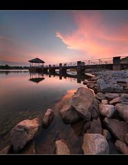 Contemplation of a better day (HakWee) Tags: sunset singapore lowerpiercereservoir vertorama