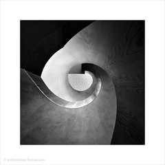 Round and Around / Aloft Hotel Excel, Docklands (Andrew James Howe) Tags: uk light england blackandwhite abstract london architecture modern buildings square spiral mono design nikon interior fineart docklands andrewhowe