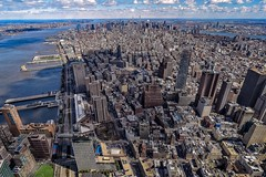 a dream ... fly (karinavera) Tags: above city travel urban up buildings fly day cityscape view manhattan aerial empirestate wtc nikond5300
