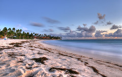Sunrise on the beach (lelik1978) Tags: ocean morning blue sunset sea seascape beach sunrise landscape coast seaside long exposure outdoor shore tropical seashore hdr puntacana