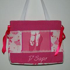 Ballet Bag (D'Sapo) Tags: ballet bag handmade feitomo feltro bolsa tote bailarina tecido chaveiro bal sapatilha dsapo
