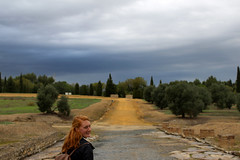 Itálica (K. Sakulku) Tags: red portrait españa landscape sevilla andalucía spain colours outdoor vivid seville andalusia italica santiponce vividcolours itálica