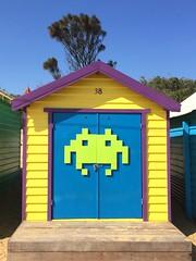 minecraft (idontkaren) Tags: beach colors design seaside sand colorful brighton paint oz painted decoration australia victoria beaches bayside brightonbeachboxes minecraft