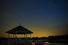 Last Lights (elenaleong) Tags: park sunset stars singapore quiet serene bluehour nightfall lowerpeircereservoir