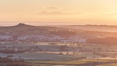 Almscliffe Crag (matrobinsonphoto) Tags: uk morning light outcrop sun sunlight west rural sunrise dawn golden countryside frozen spring haze scenery rocks frost glow yorkshire hill north rocky frosty valley hour british harrogate dales nidderdale wharfedale otley crag chevin almscliffe