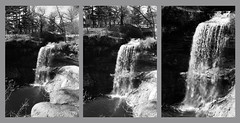 3 Lenses of the Kodak Retina IIc (John's Vintage Cameras) Tags: film minnesota analog vintage blackwhite waterfall triptych kodak xenon minnehaha schneider retina doublex retinaiic 5222 cinemafilm longar curtar