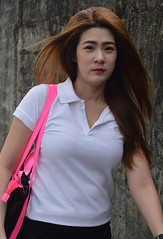 pretty woman with hair flying (the foreign photographer - ) Tags: woman hair thailand flying nikon pretty bangkok lard bang bua khlong bangkhen d3200 phrao