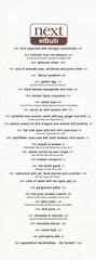 Next elBulli Menu (Edsel L) Tags: chicago dave menu restaurant us illinois unitedstates grant el next tasting adri ferran tastingmenu beran degustation achatz ferranadri grantachatz nextrestaurant daveberan elbull bull