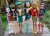 My Monster High Gang (thedollcraft) Tags: doll monsterhigh cleodenile clawdwolf neferradenile robeccasteam skelitacalaveras clawdiawolf