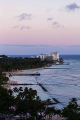waikiki beach (v snow) Tags: sunset beach hawaii waikiki oahu waikikibeach