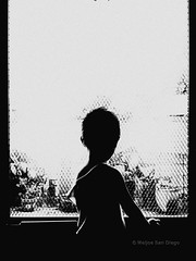 Where Are You Mama | Happy New Year 2016! (Meljoe San Diego) Tags: silhouette blackwhite candid grain highcontrast gritty shinji iphone meljoesandiego iphone4s
